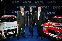 Tom Kristensen, Melanie C. et Bernd Schneider