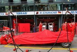 L'équipe Ferrari au travail