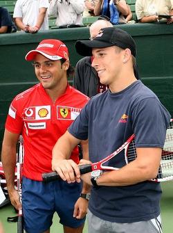 Pitstop tennis Pro-Am charity event: Felipe Massa and Christian Klien