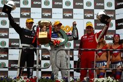 Podium: Rick Kelly, Jamie Whincup, Todd Kelly