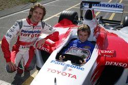 Jarno Trulli avec un jeune pilote