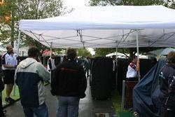 Un matin pluvieux sur le circuit d'Albert Park