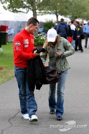 Michael Schumacher et sa femme Corina