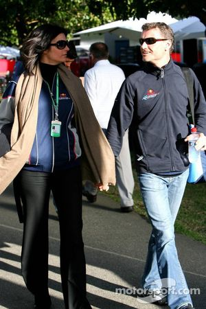 David Coulthard et sa petite-amie Karen Minier