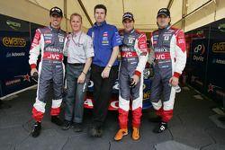 Tiago Monteiro, Johnny Herbert, Paul Cruickshank, Christijan Albers et Markus Winkelhock