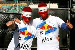 Des fans australiens