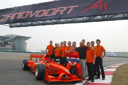 Jos Verstappen (NED) A1 Team Nederland, Sheikh Maktoum Hasher Maktoum Al Maktoum (UAE) President van