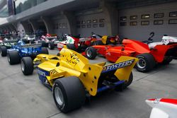 Cars in Parc Ferme after qualifying