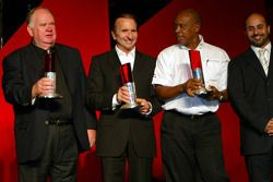 Colin Giltrap (NZL), Emerson Fittipaldi (BRA), Tokyo Sexwale (RSA) et Sheikh Maktoum Hasher Maktoum