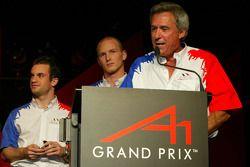 Nicolas Lapierre (FRA) A1 Team France, Alexandre Premat (FRA) A1 Team France and Jean-Paul Driot (FR