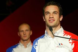 Alexandre Premat (FRA) A1 Team France and Nicolas Lapierre (FRA) A1 Team France accept their award