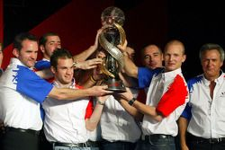 A1 Team France accept their award for winning the A1GP Championship