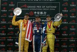 Tomas Enge (CZE), A1 team Czech Republic, Alex Yoong (MAL), A1 team Malaysia and Ryan Briscoe (AUS),