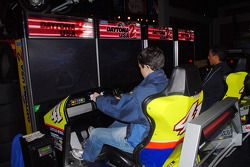 Burt Frisselle and Leonardo Maia try their hands at virtual stock car racing