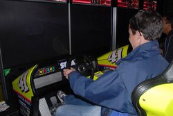 Burt Frisselle tries his hand at virtual stock car racing