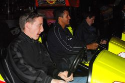 Brian Frisselle, Leonardo Maia and Burt Frisselle playing Daytona USA 2