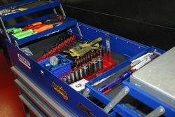 Boîte à outils dans le garage