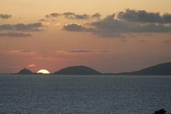 Un spectaculaire coucher de soleil