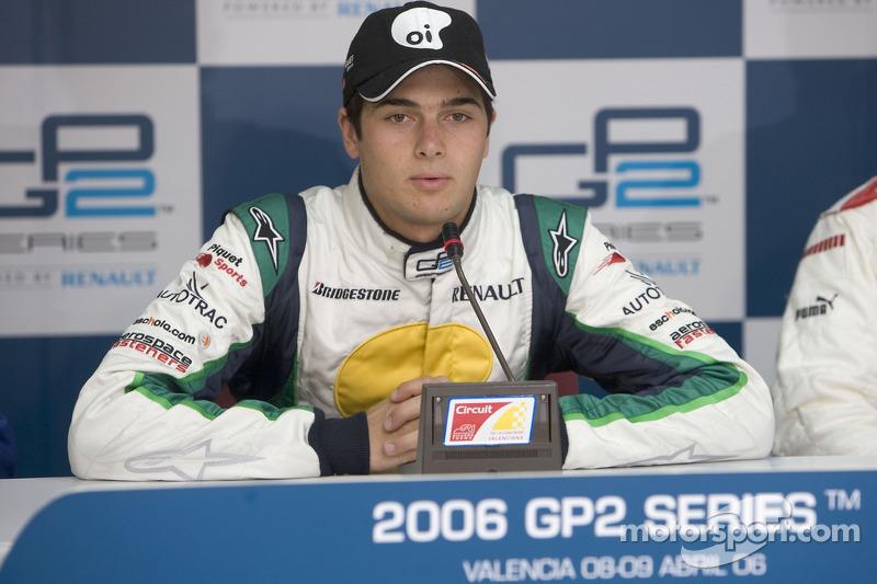 Nelson A. Piquet en conférence de presse