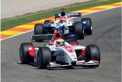 Lewis Hamilton leads Adrian Valles