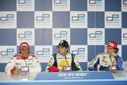 Nelson A. Piquet, Lewis Hamilton et Adrian Valles