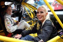 Cora Schumacher with her team mate in the Seat Super Copa, Christina Surer