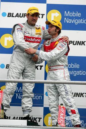 Podium: vainqueur Bernd Schneider et Heinz-Harald Frentzen