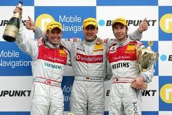 Podium: race winner Bernd Schneider with Tom Kristensen and Heinz-Harald Frentzen