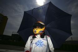 Lewis Hamilton sur la grille