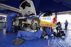 Red Bull Skoda Rallye service area
