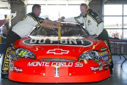 Jeff Gordon's car in the garage