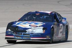 Kurt Busch's damaged car returns to pit lane