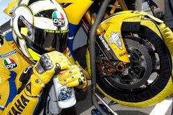 Valentino Rossi sur la grille