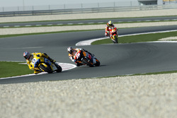 Valentino Rossi leads the field