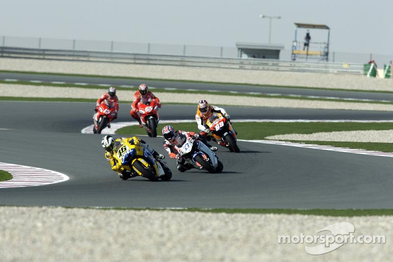Qatar 2006, Valentino Rossi seguido por Casey Stoner