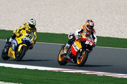Nicky Hayden and Valentino Rossi
