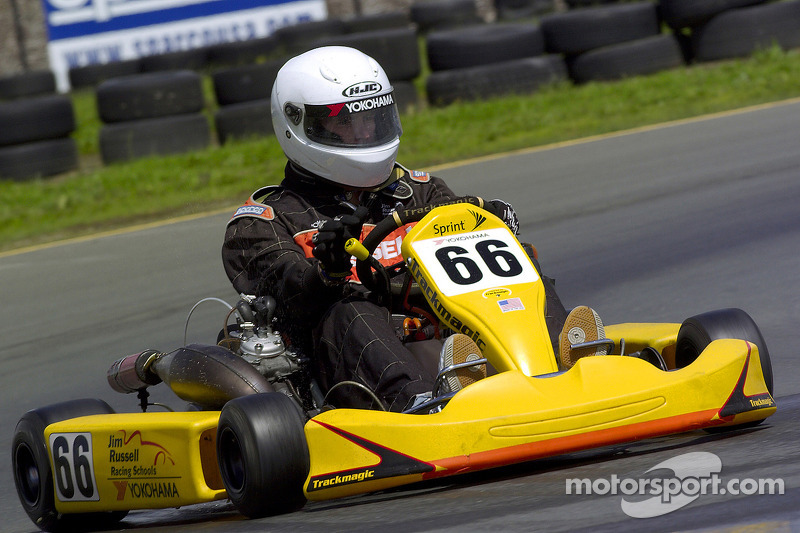 Scott Speed, a kart