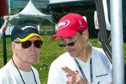 Le propriétaire de l'équipe Champ Car Paul Newman et Carl Russo