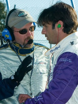 Christian Fittipaldi listens to a race official