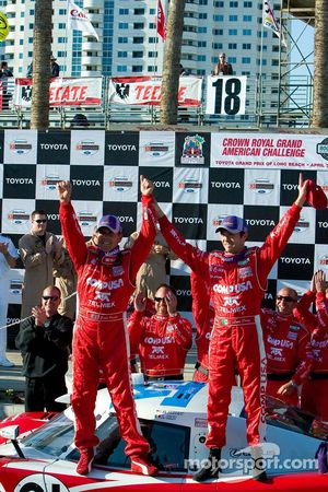 Scott Pruett and Luis Diaz celebrate their victory