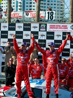 Scott Pruett and Luis Diaz celebrate their victory