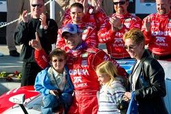 Race winner Scott Pruett and family