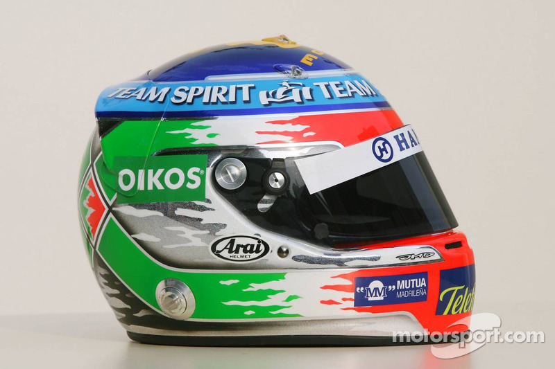 Le nouveau casque de Giancarlo Fisichella