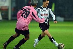 Champions for Charity football match, Ravenna'in Benelli Stadium: Michael Schumacher