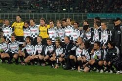 Champions for Charity football match, Ravenna'in Benelli Stadium: takım fotoğrafı