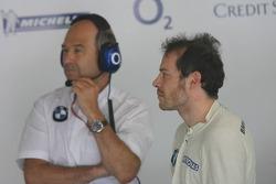 Peter Sauber and Jacques Villeneuve