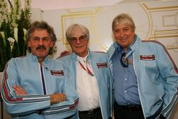 The Ex Brahbam team Gordon Murray, ex Brabham and McLaren Designer with Bernie Ecclestone and Herbie