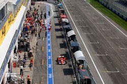 Felipe Massa en el pitlane