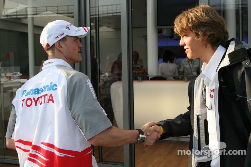 Ralf Schumacher y Sebastian Vettel