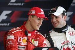 Conférence de presse: Michael Schumacher avec Rubens Barrichello